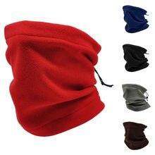 1 pçs 3 em 1 unisex polar velo pescoço mais quente esqui térmico wear snowboarding snood cachecol chapéu multi função cachecol colar