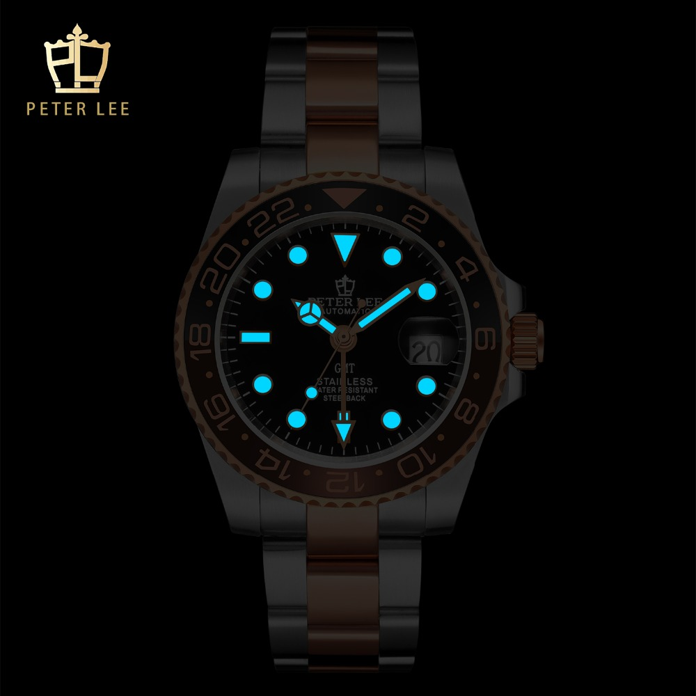H7bfce9880cbb40ebbf0a80a57ddac1270 Best Watches For Men   PETER LEE Automatic Watch   Classic Ceramic bezel luxury daydate 40mm mechanical men watches noctilucous stainless steel rose gold men automatic watch