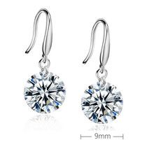 Fashion Trend Circular Women #8217 s Drop Earrings Female Collar Fashion Jewelry Drop Earrings Women #8217 s Pendant Jewelry Gifts cheap RANSSI Copper Cute Romantic LE0001 ROUND Cubic Zirconia