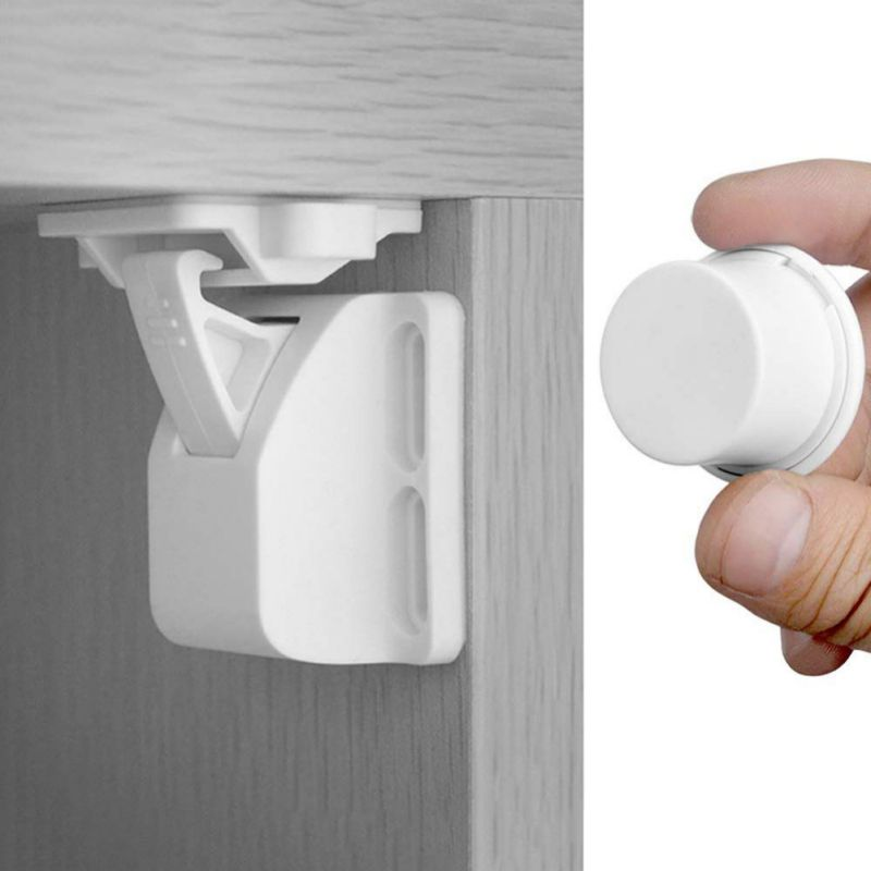 New  10+2 Pcs Magnetic Child Lock Protection Baby Safety Lock Drawer Latch Cabinet Door Lock Limiter Security Locks