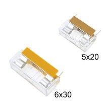 5*20mm 6*30mm glass fuse holder transparent holder with transparent cover fuse blocks 5x20mm 6x30mm insurance header 250V