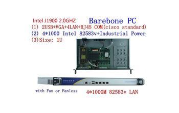 цена на Cheap 1U Rack server J1900 4 Lan ethernet Firewall Security Appliance router Network 1U Rack server