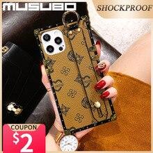 Musubo جراب هاتف خلوي فاخر ، حزام معصم لـ iPhone 12 Pro ، 11 Pro Max ، XR ، Xs ، X ، 8 Plus ، 7