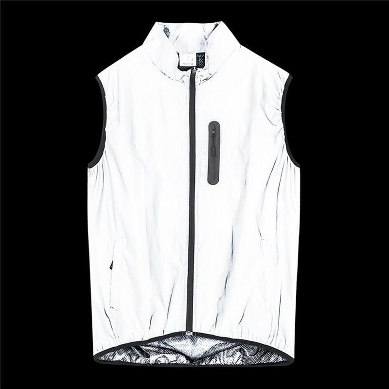 WOSAWE Reflective Jacket Set Night Glowing Bomber Jacket MTB Bike Windbreaker Travel Sport Coat Cycling Clothing Safety Vest