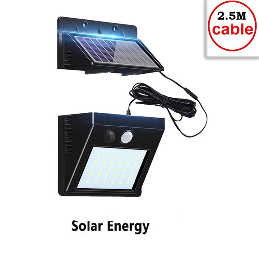 30 LEDs Solar Light Solar Panel Power Lamp PIR Motion Sensor Path Light Street Porch Security Outdoor Waterproof Wall Lamp Indoo