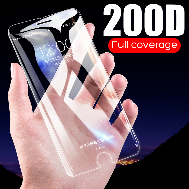 For iPhone 11 Pro Max Screen Protector For iPhone X XS Max XR Full Cover Glass For iPhone 7 8 6 6s Plus 5S SE 5 Screen Protector image