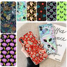 LJHYDFCNB Alien ghost TPU Soft Phone Case Cover For iphone 6 6s plus 7 8 plus X XS XR XS MAX 11 11 pro 11 Pro Max Cover offeier alien ghost diy luxury phone case for iphone 5 6 6s 7 8 plus x xs xr xs max 11 11 pro 11 pro max