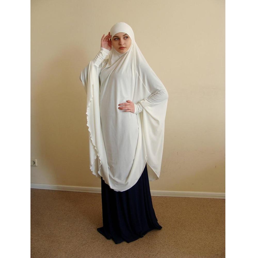 Muslim Women Large Hijab Scarf Khimar Islamic Full Cover Prayer Niqab Burqa Long Jilbab Abaya Arab Clothes Middle East Amira New