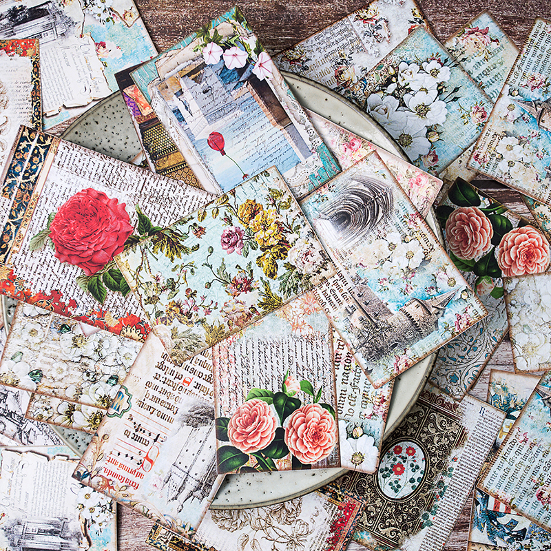 31Pcs/Pack Diary Vintage Large Flower Palace Sticker DIY Craft Scrapbooking Album Junk Journal Planner Decorative Stickers