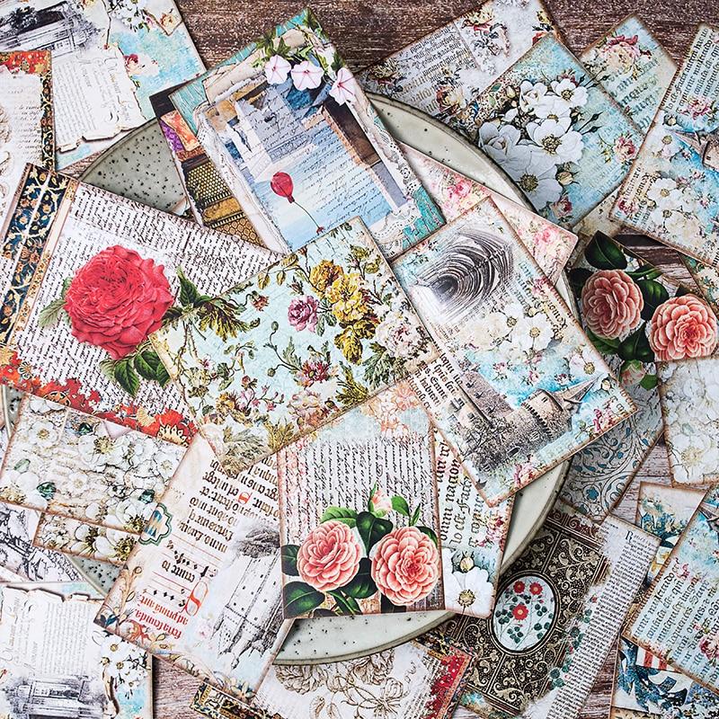 31Pcs/Pack Diary Vintage Large Flower Palace Sticker DIY Craft Scrapbooking Album Junk Journal Planner Decorative Stickers