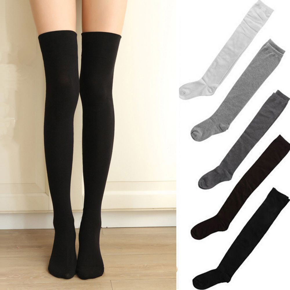 Fashion Autumn Winter Women Stockings Warm Thigh High Over The Knee Long Cotton Stockings Sexy Stockings Medias De Mujer