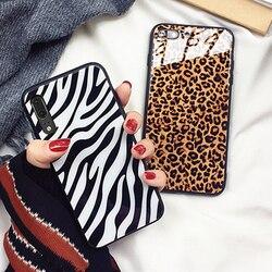 На Алиэкспресс купить стекло для смартфона for samsung galaxy a21 a20e a10e a202f a01 a11 case zebra leopard print hard glass back silicone edge cover for samsung a20s