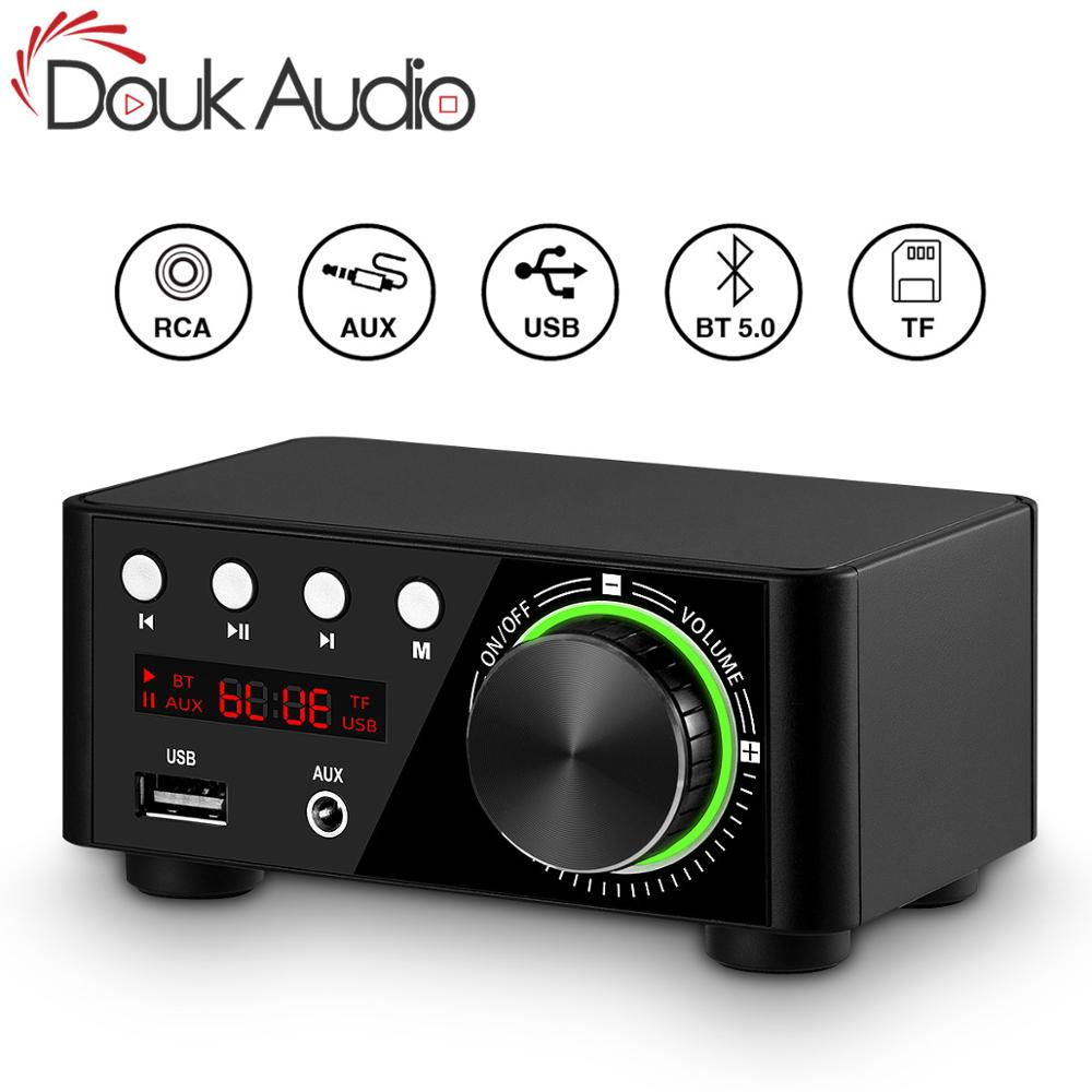 Douk Audio MINI TPA3116 Power Amplifier Bluetooth 5.0 สเตอริโอ Home CAR AUDIO AMP USB U-Disk เครื่องเล่นเพลง