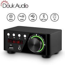 Douk audio Mini TPA3116 amplificador de potencia Bluetooth 5,0, receptor estéreo para el hogar, amplificador de Audio del automóvil, USB u disk, reproductor de música