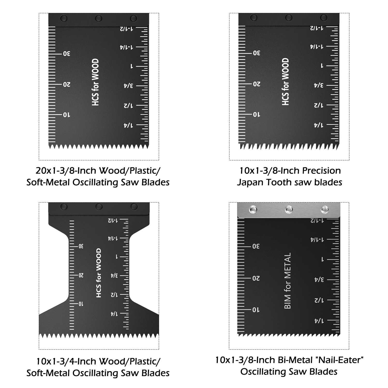 50 stücke Multi-Funktion Bi-metall Präzision Sägeblätter Oszillierende Klinge Multi Holz Schneiden Kit Werkzeug Kreissäge klinge