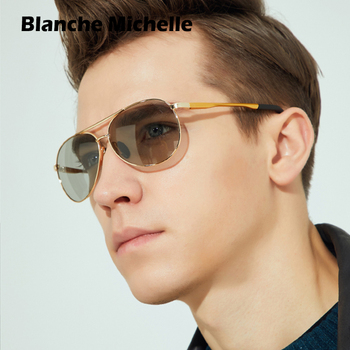 Blanche Michelle Baking Varnish Frame Sunglasses Women Men Polarized UV400 Pilot Sun Glasses Driving oculos feminino 2019