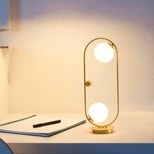 Современная настольная лампа с металлическим абажуром стеклянные