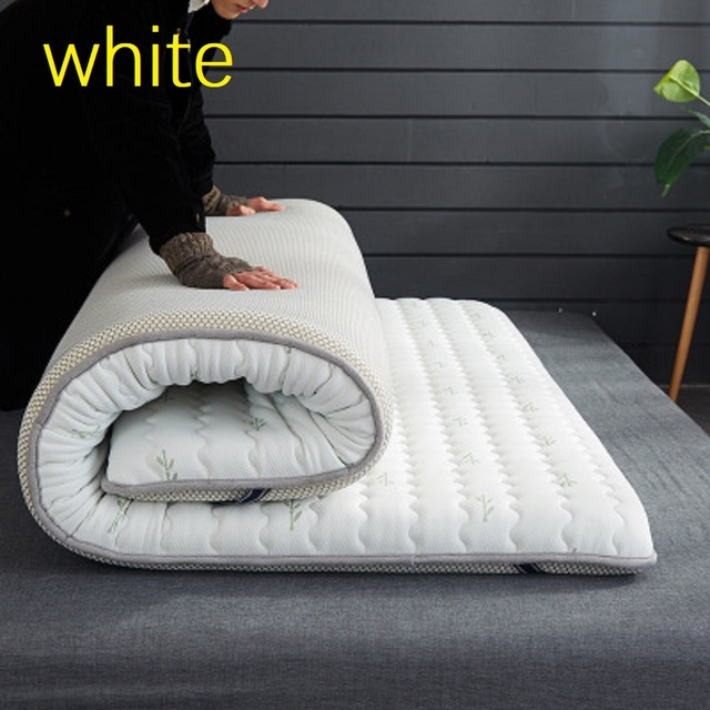 Thicken 10 cm mattress Single double size 100% Natural memory foam latex filling stereoscopic Breathable Comfortable 1