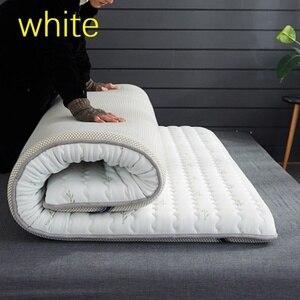 Image 2 - Colchão grosso de látex com 10 cm, único, tamanho duplo, 100% natural, espuma de memória, estereoscópico, respirável e confortável