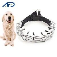 Einstellbare Prong Hund Ausbildung Kragen Professionelle Metall Prise Hund Ausbildung Kette Halsbänder mit Schnalle Haustier Hund Liefert