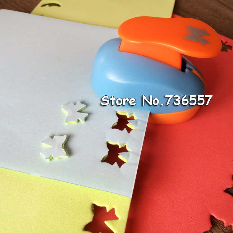 free ship flower furador 5/8'' 1.5cm diy paper cut Eva Foam Maker puncher scrapbooking labor saving for kid hole punch 6