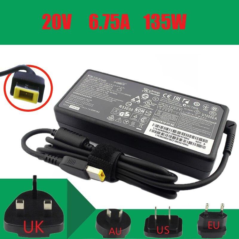 Оригинальное 20V 6.75A 135W зарядное устройство для ноутбука Lenovo Legion Y520-15IKBA Y520-15IKBM Y520-15IKBN Y530-15ICH Y7000P Y730-15ICH