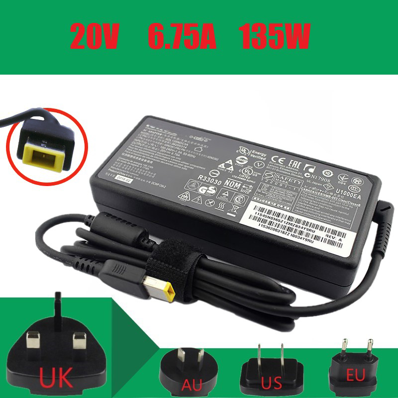 Original 20V 6.75A 135W laptop charger for Lenovo Legion Y520 15IKBA Y520 15IKBM Y520 15IKBN Y530 15ICH Y7000P Y730 15ICH|Laptop Adapter|Computer & Office - title=