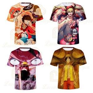 Цельнокроеная футболка с объемным принтом аниме Детская летняя футболка с короткими рукавами для детей топы для мальчиков и девочек, подарок на день рождения