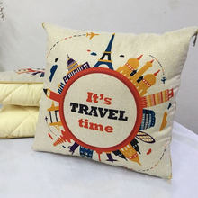 1x1.5M Pillow Quilt Pillow Cushion Air Conditioner Summer Nap Quilt Foldable Office Livining Room Sofa Pattern Flax цена 2017
