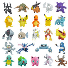 Genuíno pokemon figuras psyduck pikachu charizard figura de ação modelo boneca pokemon 7-10cm pvc brinquedo presente de aniversário para crianças