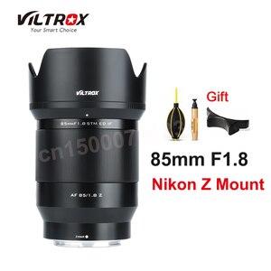 Viltrox 85 мм f1.8 STM объектив AF объектив с фиксированным фокусом полная Рамка для Nikon Z Крепление камеры Z5 Z6 Z7 Z50 Z7II Z6II камера s объектив