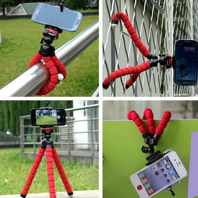 New Mini Flexible Sponge Octopus Tripod for iPhone Samsung Xiaomi Huawei Mobile Phone Smartphone Tripod for Gopro 9 8 7 Camera 5