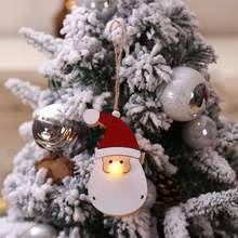 Christmas Glowing Wooden Pendant Xmas Party Ornament Tree Hanging Decoration Kerst Decoratie Natale DecorazioniCM