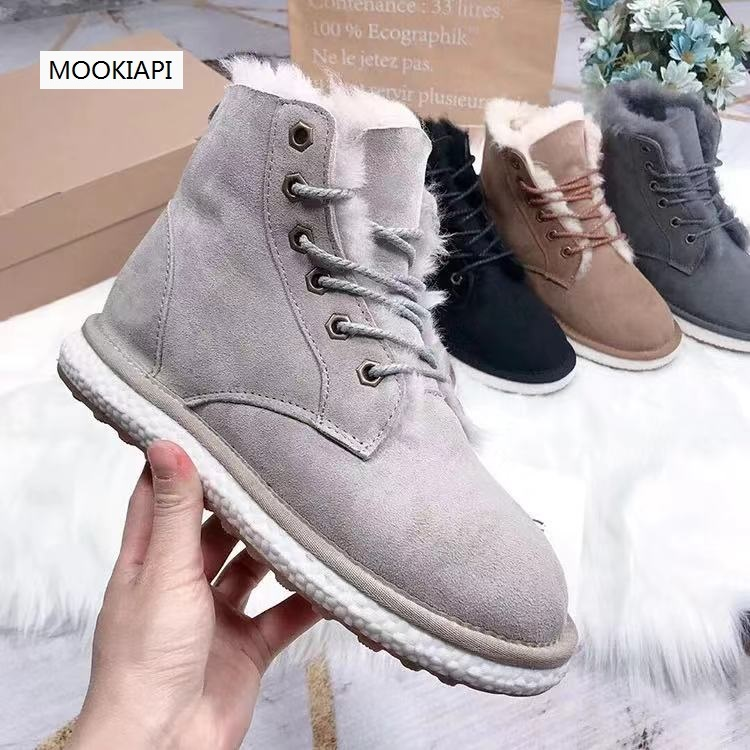 New snow boots of Australian brand in 2020, 100% real sheepskin, natural wool, fashionable and classic women's shoes