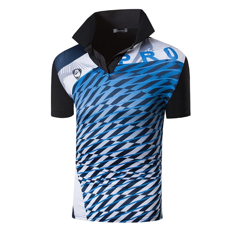 Jeansian Men's Sport Tee Polo Shirts POLOS Poloshirts Golf Tennis Badminton Dry Fit Short Sleeve LSL280 Black2