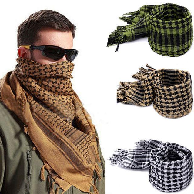 Fashion Mens Lightweight Square Outdoor Shawl Military Arab Tactical Desert Army Shemagh KeffIyeh Arafat Scarf Fashion 3