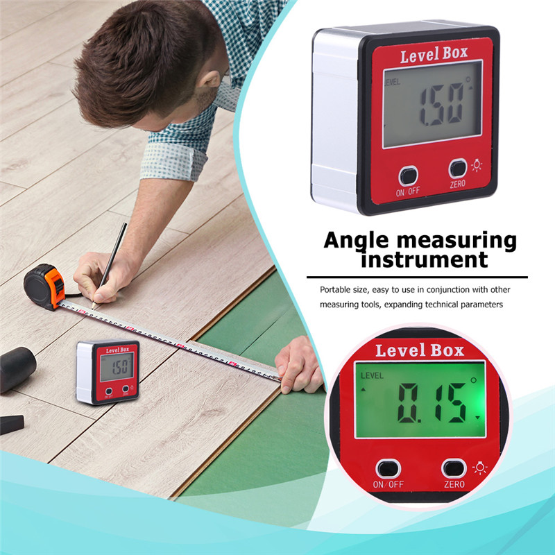 Mini Angle Finder Precision Digital Network Conveyor Waterproof Inclinometer Level Instrument With Box With Magnetic Base