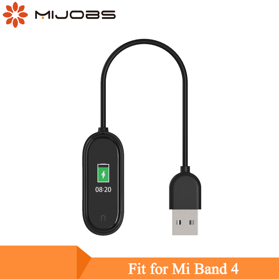 Mijobs USB Charging Dock Cable For Xiaomi Mi Band 4 Replacement Cord Charger Adapter For Mi Band 4 Smart Wristband Accessories