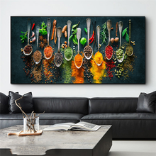 Herbs and Spices for Cooking Canvas Art Posters And Prints Kitchen theme Canvas Paintings On the Wall Art Pictures Cuadros Decor