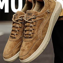 Men Shoes Loafers Sneakers Outdoor Autumn Breathable Genuine-Leather Fashion Casual Lace-Up