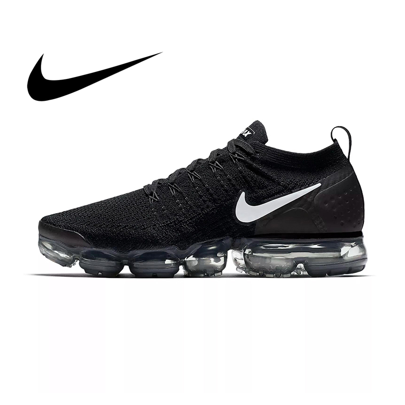 Original NIKE AIR VAPORMAX FLYKNIT 2.0 Running Shoes For Men Breathable Sport Durable Jogging Athletic Sneakers 942842-001