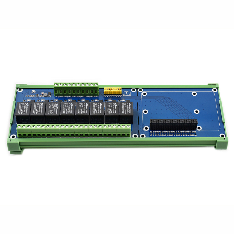 Raspberry Pi Expansion Board, 8-ch Relay Channel,Onboard LED,Contact Form:SPDT-NO,NC For Raspberry Pi A+/B+/2B/3B/3B+