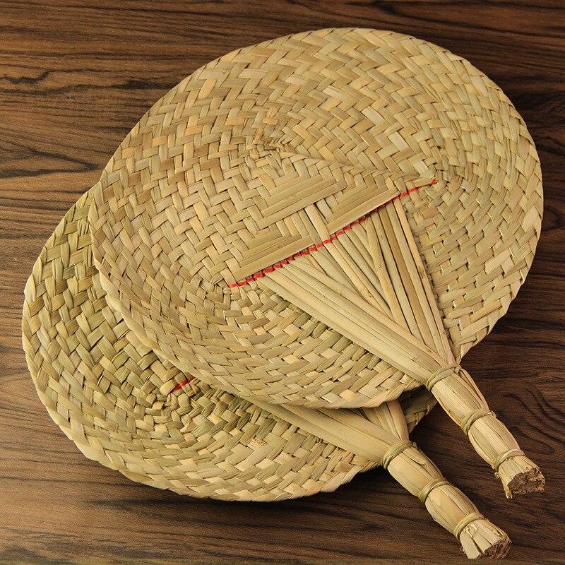 Hot Selling Large Size Series Fan Retro Fan Handmade Fan Weaving Straw Creative Palm-leaf Fan Yuan Shan Wholesale