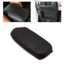 Para vw golf 5 mk5 2005 2006 2007 2008 2009 2010 carro microfibra de couro console central caixa apoio braço capa proteção guarnição