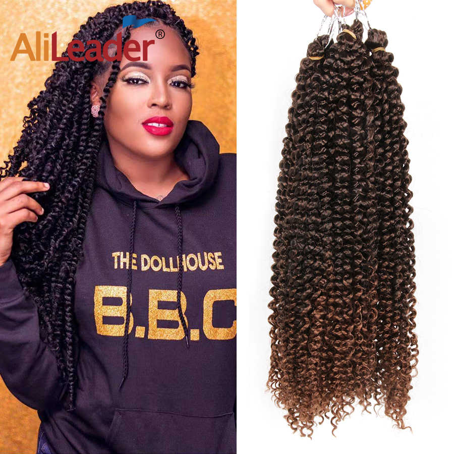 AliLeader Synthetic Nubian Twist  low temperature Braiding Hair Bulk 30strands long Passion Twists Crochet Hair Extension