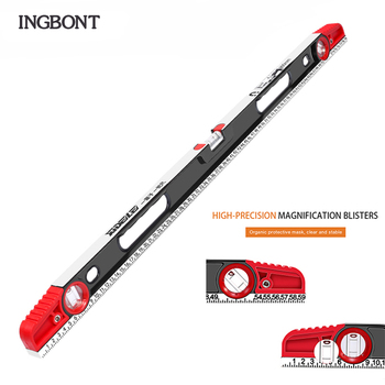 INGBONT 300-800MM Precision Laser Level Ruler Professional Measurement Instrument Industrial Hand Tool Inclinometer precision aluminum alloy level ruler with level bubble mm scale rule for building decoration measurement tool