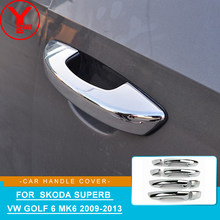 For Volkswagen VW Golf 6 MK6 Skoda SUPERB 2009 2010 2011 2012 2013 Door Handle Cover Trim Car Styling Interior Handle Bowl