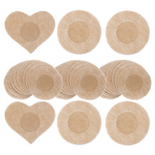 Mamilo pasties mamilo tampas mulheres pétalas de mama adesivas almofadas descartáveis adesivos femininos para mamilos no peito 10/50 pçs