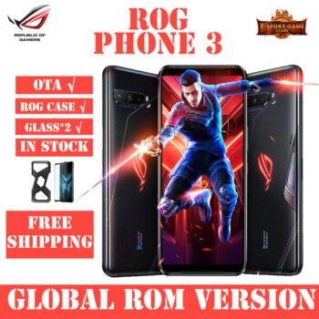 Купить ASUS ROG Phone 3 игровой телефон Snapdragon 865/865 плюс 12/16RAM 128/256/512ROM 6000 мА/ч, 144 Гц 2SIM карты 5G ROG 3 смартфон