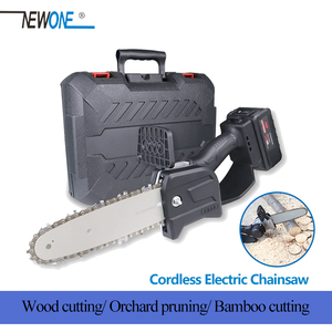 NEWONE 20V Cordless Chainsaw 800W Brushless Mini Electric Chain-saw for Grape branch Pruning Shear Combo Kit with Case(China)